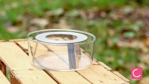 Podgrzewacz do czajnika szklany na tealight