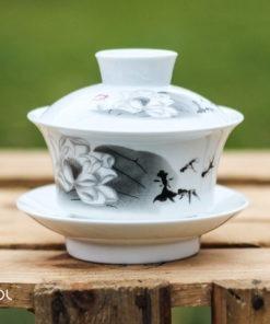 Gaiwan biały do herbaty porcelanowy Alyssa 100ml
