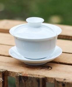 Gaiwan biały do herbaty porcelanowy 120ml