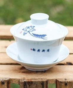 Gaiwan biały do herbaty porcelanowy Zahra 240ml