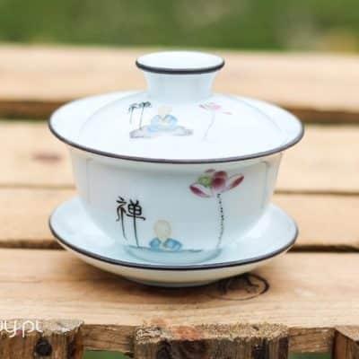 Gaiwan biały do herbaty porcelanowy Nasrin 100ml