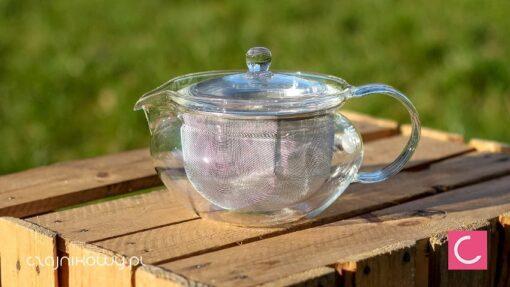Czajnik szklany do herbaty Hario z ogromnym sitkiem 700ml