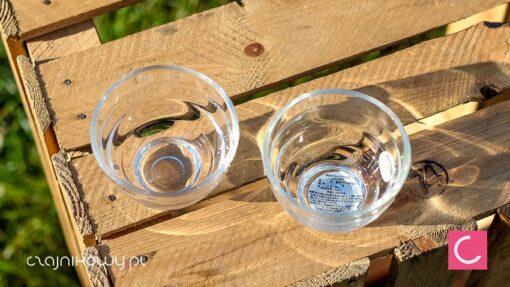 Dwie szklane czarki do herbaty Hario 170ml