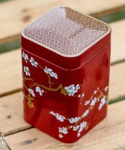 Puszka na herbatę sakura czerwona 100g