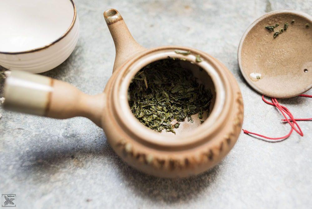 Zielona japońska herbata Bancha: po parzeniu
