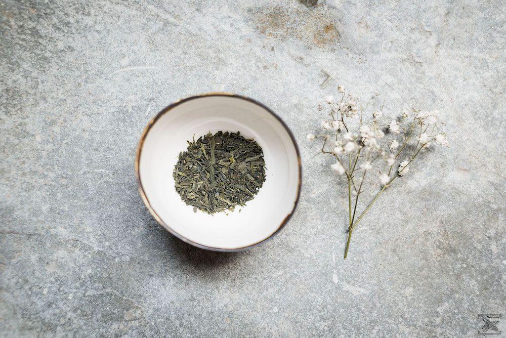 Zielona japońska herbata Bancha: susz (liście)