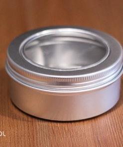 Puszka na herbatę zakręcana z okienkiem 45g