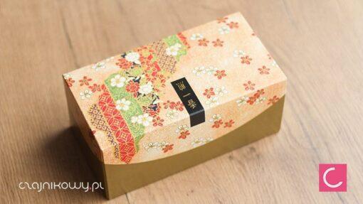 Zestaw japońskich puszek do herbaty Matcha Ruri: pudełko