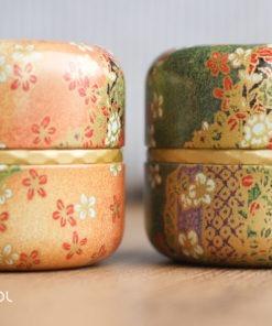 Zestaw japońskich puszek do herbaty Matcha Ruri