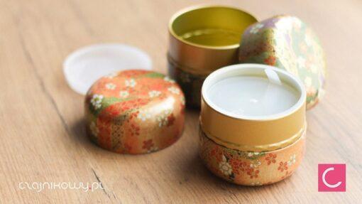 Zestaw japońskich puszek do herbaty Matcha Ruri: podwójne zamknięcie