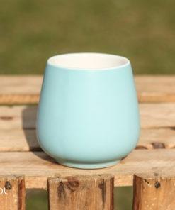 Czarka do herbaty Sara matowa błękitna 250ml
