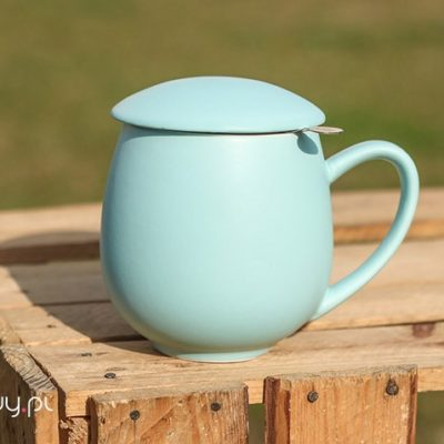 Najlepszy kubek do parzenia herbaty błękitny 0,35l
