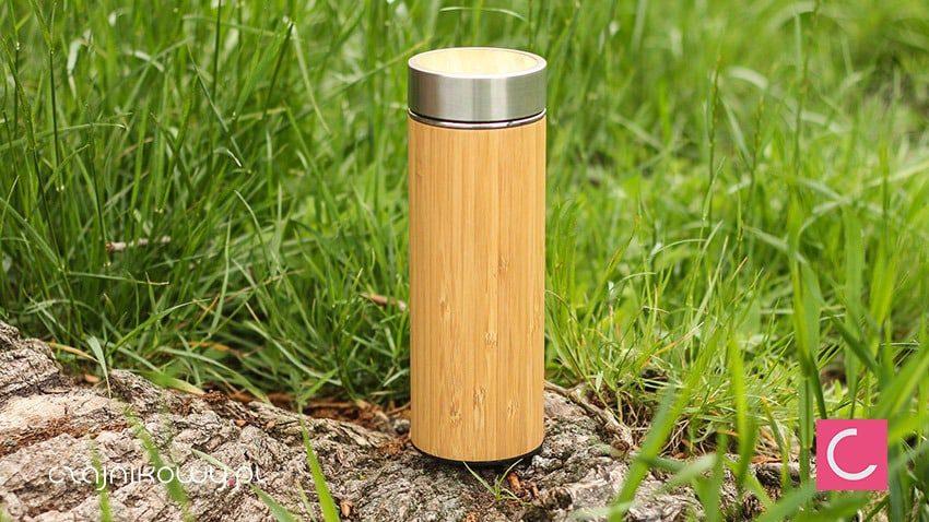 Szklany termos z zaparzaczem do herbaty Bamboo 380ml