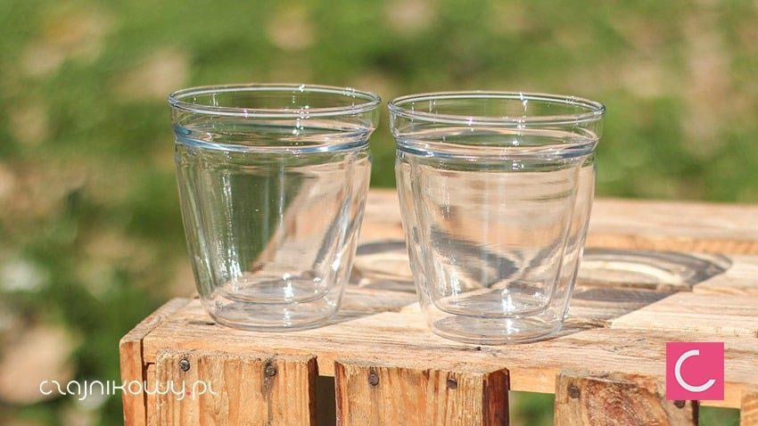 Dwie szklanki podwójne ścianki 180ml