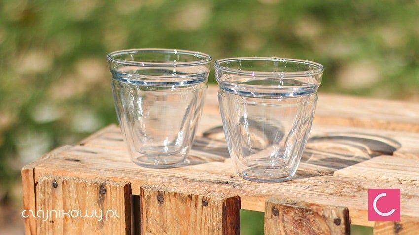 Dwie szklanki podwójne ścianki 75ml