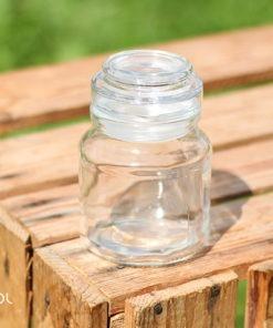Szklany pojemnik słoik na herbatę 50g szczelne zamknięcie