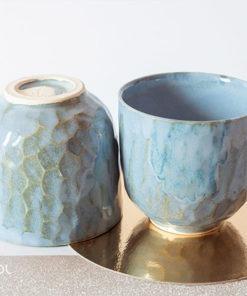 Dwie czarki do herbaty ceramika artystyczna unikat Y4