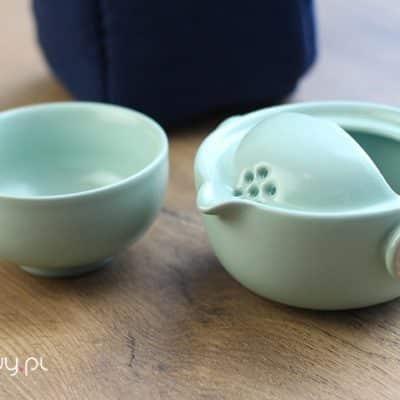 Podróżny zestaw do parzenia herbaty zielony 100ml
