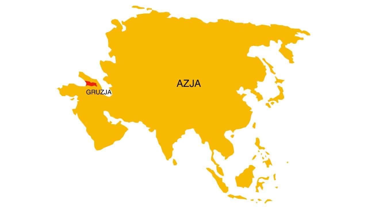 Herbata w Azji: Gruzja - mapa