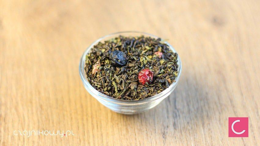 Herbata zielona porzeczka z miętą naturalna