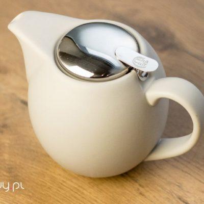 Czajnik do herbaty matowy szary z sitkiem Sara 900ml