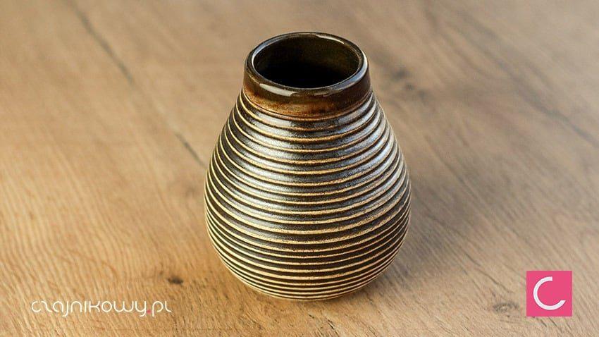 Matero do Yerba mate Ceramiczne miodowe brązowe 350ml