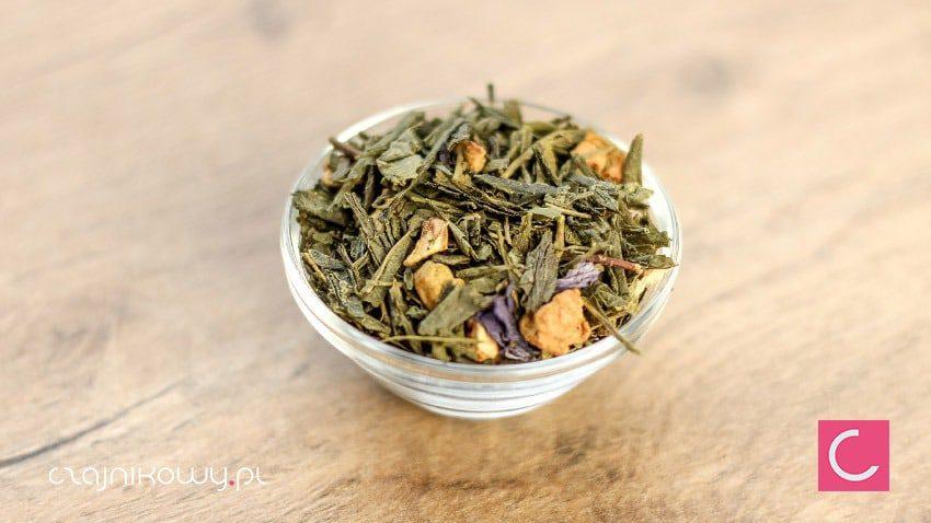 Herbata zielona brzoskwinia kokos z matcha