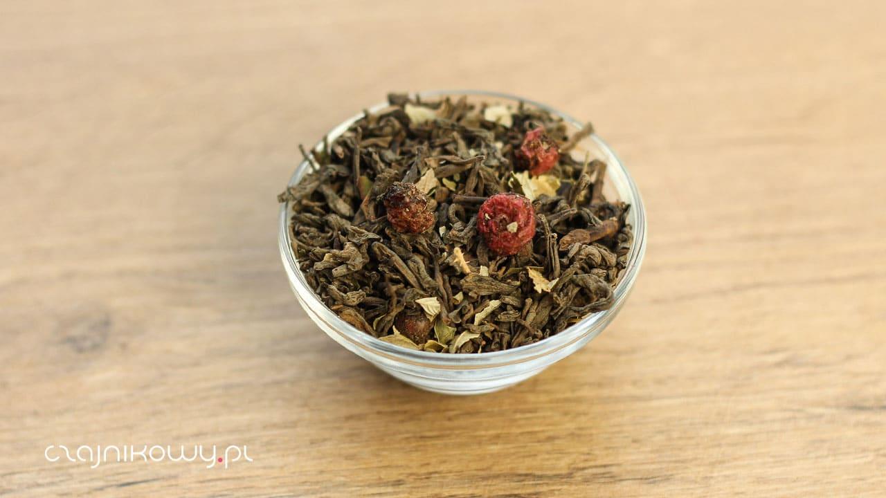 Herbata czerwona pu-erh porzeczkowa jeżynowa