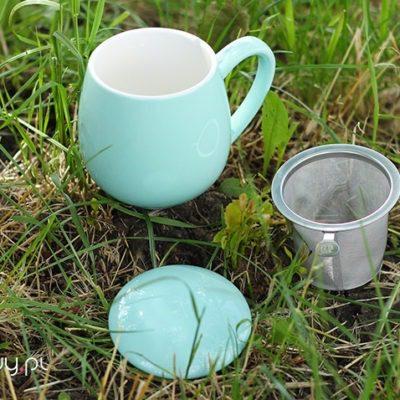Najlepszy kubek do parzenia herbaty turkusowy 0,35l