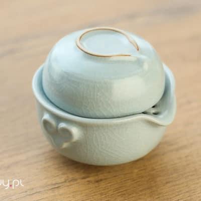 Zestaw do parzenia herbaty jasnoszary 150ml