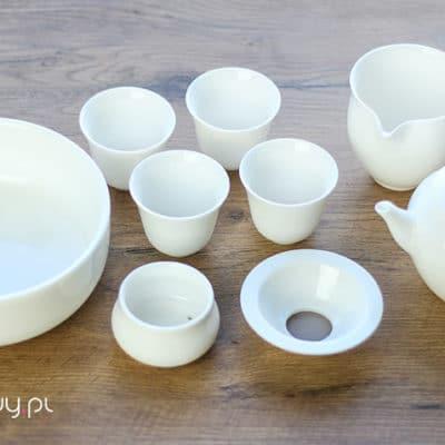 Zestaw porcelanowy duży do parzenia herbaty