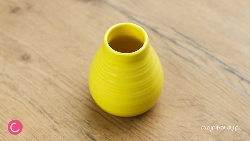 Matero do Yerba mate ceramiczne żółte 250ml