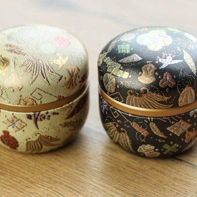 Zestaw japońskich puszek do herbaty Matcha Takato